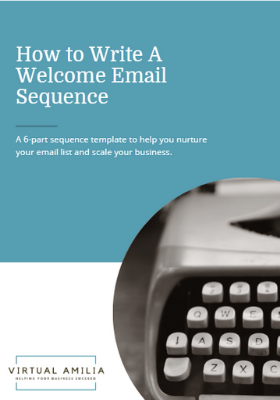 How to write a welcome email sequence freebie pic