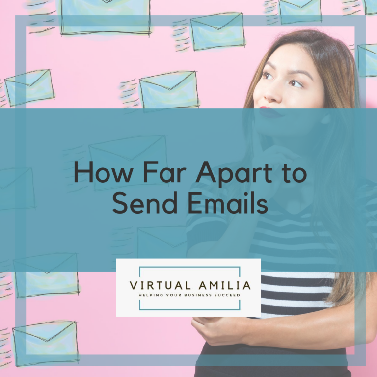 How Far Apart to Send Emails