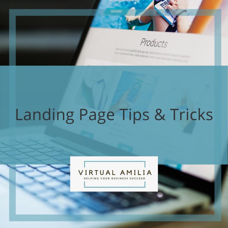 Landing Page Tips & Tricks